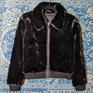 NWT Abercrombie And Fitch Faux Fur Bomber Jacket S